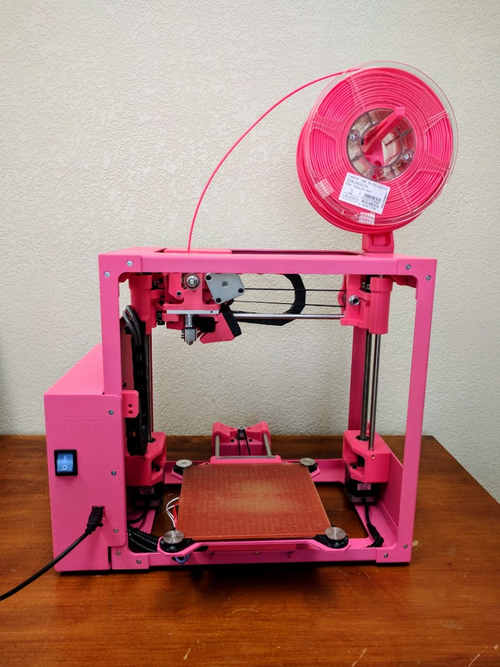 pink 3d printer lulzbot mini